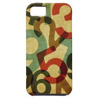 vintage numbers texture case iPhone 5 cases