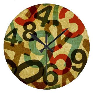 vintage numbers texture clock