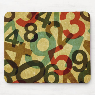 vintage numbers texture mousepad