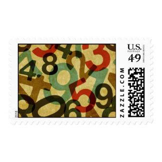 vintage numbers texture Postage