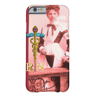 VINTAGE NURSE and Gold Caduceus NR Emblem Barely There iPhone 6 Case