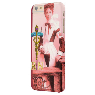 VINTAGE NURSE and Gold Caduceus NR Emblem Barely There iPhone 6 Plus Case