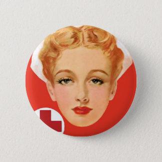 Vintage Nurse Button