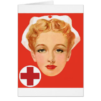 Vintage Nurse Greeting Card