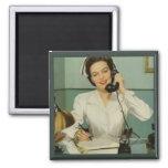 Vintage Nurse Fridge Magnet