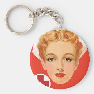 Vintage Nurse Keychain