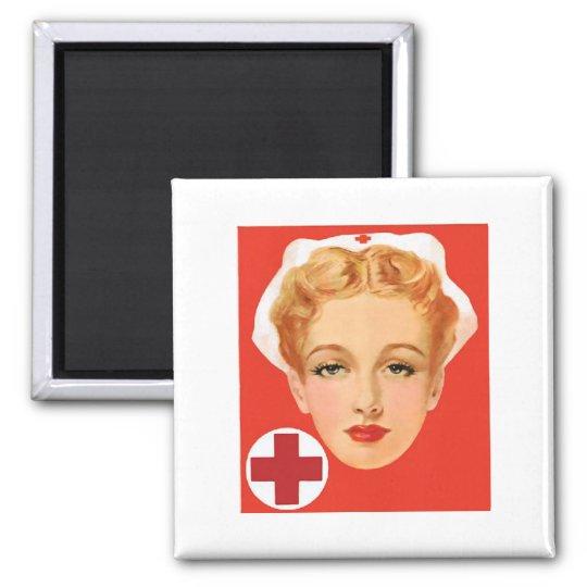 Vintage Nurse Magnet