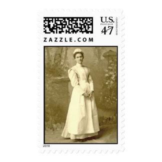 Vintage Nurse MEDIUM Postage Stamp