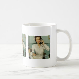 Vintage Nurse on the Phone Coffee Mug