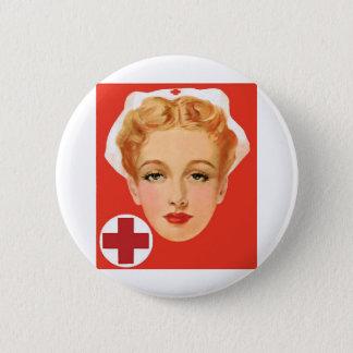 Vintage Nurse Pinback Button