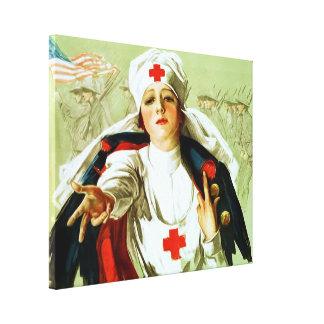 Vintage Nurse Poster ~ World War 1 Canvas Print