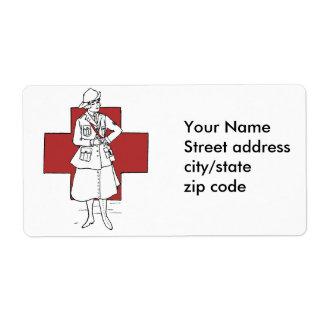 Vintage Nurse Shipping Label