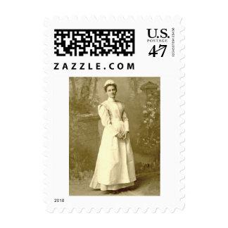 Vintage Nurse SMALL Postage Stamp