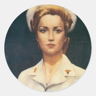 Vintage Nurse Stickers - Vintage War Poster