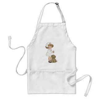 Vintage Nurse With Puppy T-shirts and Gifts Aprons