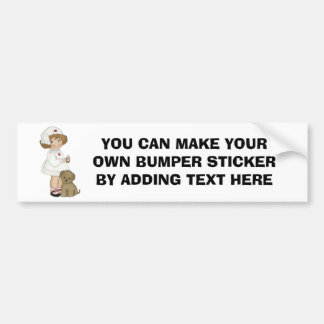 Vintage Nurse With Puppy T-shirts and Gifts Bumper Sticker