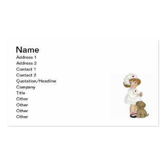 Vintage Nurse With Puppy T-shirts and Gifts Business Card