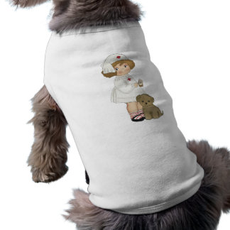 Vintage Nurse With Puppy T-shirts and Gifts Doggie Shirt