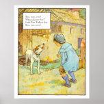 Vintage Nursery Print- Bow Wow Wow! Poster