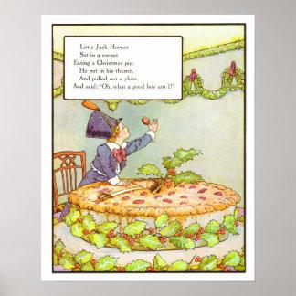 Vintage Nursery Print- Little Jack Horner Poster