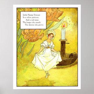 Vintage Nursery Print- Little Nanny Etticoat Poster