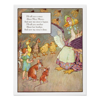 Vintage Nursery Print- Mary Morey Poster