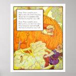Vintage Nursery Print- Peter Pumpkin Eater Poster