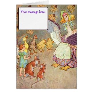 Vintage Nursery Rhyme- Custom Card