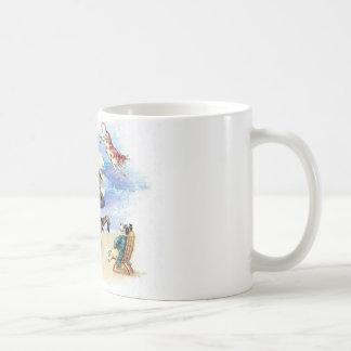 Vintage Nursery Rhyme Hey Diddle, Cat Fiddle art Coffee Mug