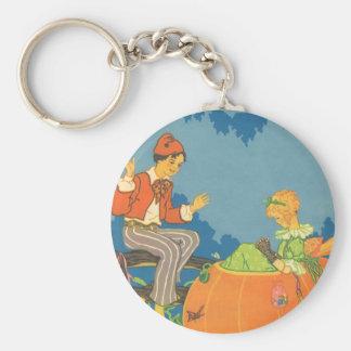 Vintage Nursery Rhyme, Peter Peter Pumpkin Eater Keychain