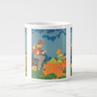 Vintage Nursery Rhyme, Peter Peter Pumpkin Eater Large Coffee Mug
