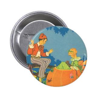 Vintage Nursery Rhyme, Peter Peter Pumpkin Eater Pinback Button
