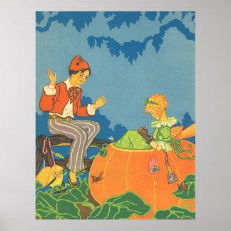 Vintage Nursery Rhyme, Peter Peter Pumpkin Eater Poster