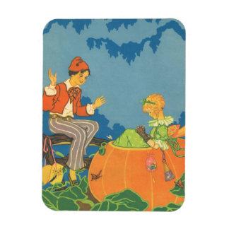 Vintage Nursery Rhyme, Peter Peter Pumpkin Eater Rectangular Photo Magnet