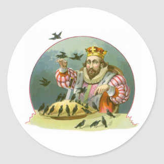 Vintage Nursery Rhyme, Sing a Song of Sixpence Classic Round Sticker