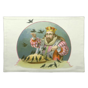 Vintage Nursery Rhyme, Sing a Song of Sixpence Cloth Placemat