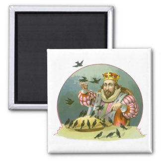 Vintage Nursery Rhyme, Sing a Song of Sixpence 2 Inch Square Magnet