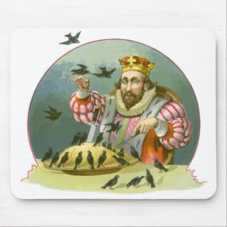 Vintage Nursery Rhyme, Sing a Song of Sixpence Mouse Pad