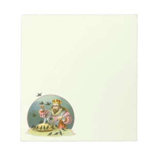Vintage Nursery Rhyme, Sing a Song of Sixpence Notepad