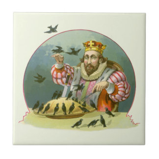 Vintage Nursery Rhyme, Sing a Song of Sixpence Tile