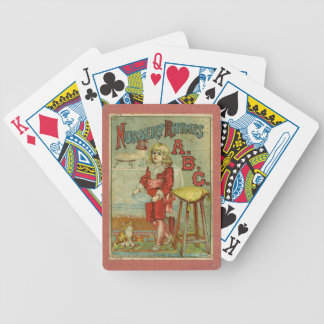 Vintage Nursery Rhymes ABC Children's Book Cover Bicycle Playing Cards