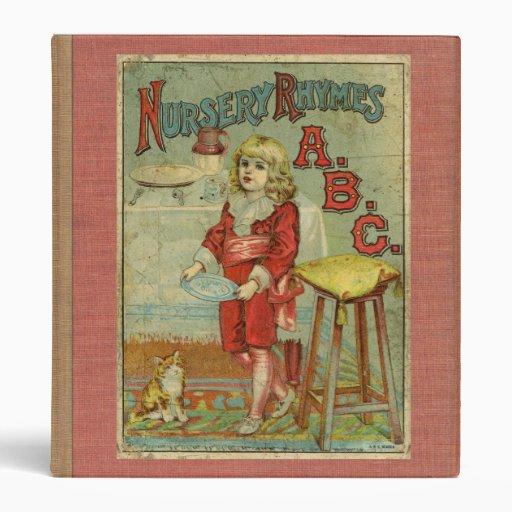 Nursery Book Cover Design ~ Vintage nursery rhymes abc children s book cover vinyl