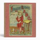 Vintage Nursery Rhymes ABC Children's Book Cover Binders