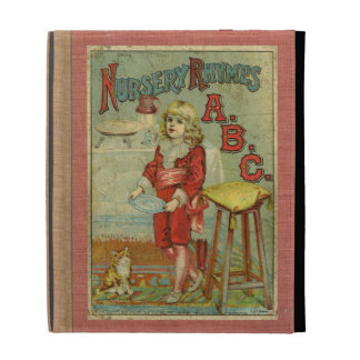 Vintage Nursery Rhymes ABC Children's Book Cover iPad Folio Case