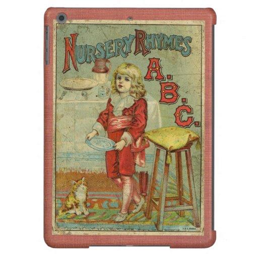 Vintage Nursery Rhymes ABC Children's Book Cover iPad Air Case