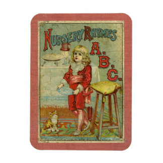 Vintage Nursery Rhymes ABC Children's Book Cover Magnet