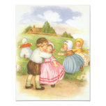 Vintage Nursery Rhymes Baby Shower Party 4.25x5.5 Paper Invitation Card