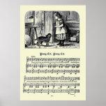 Vintage Nursery Rhymes Image - Pussy Cat Print