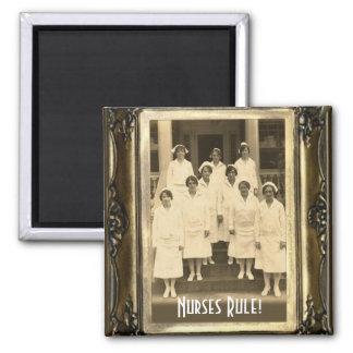 """Vintage Nurses II """"Nurses Rule"""" Magnet"""