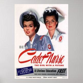Vintage Nursing Poster